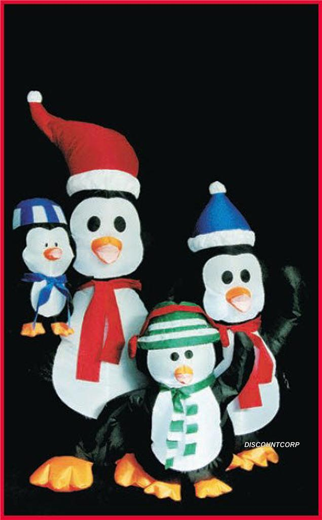 5 Ft Airblown Lighted Inflatable Penguin Family Christmas Outdoor Decoration
