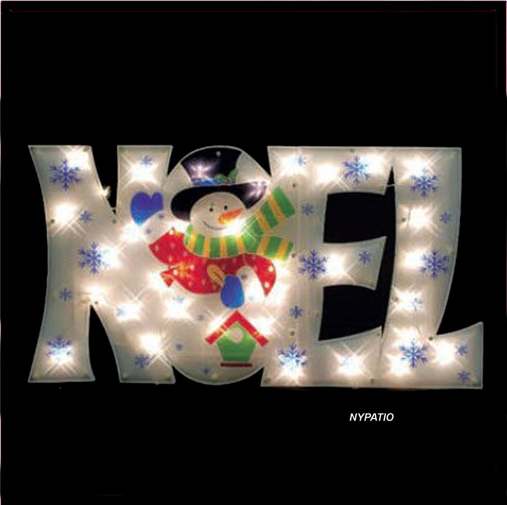36 lighted noel sign snowman outdoor christmas 50 lights