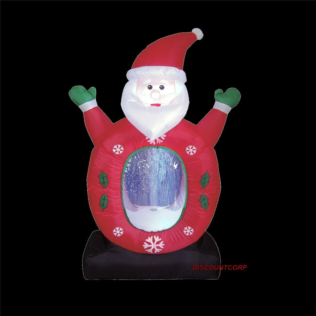 4 ft inflatable santa snow globe lighted led lights for 4 ft santa claus decoration