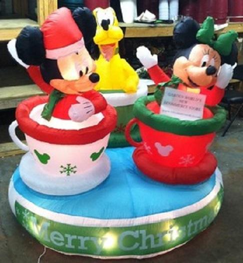 Disney Inflatable Christmas Decorations - Christmas Lights Card ...