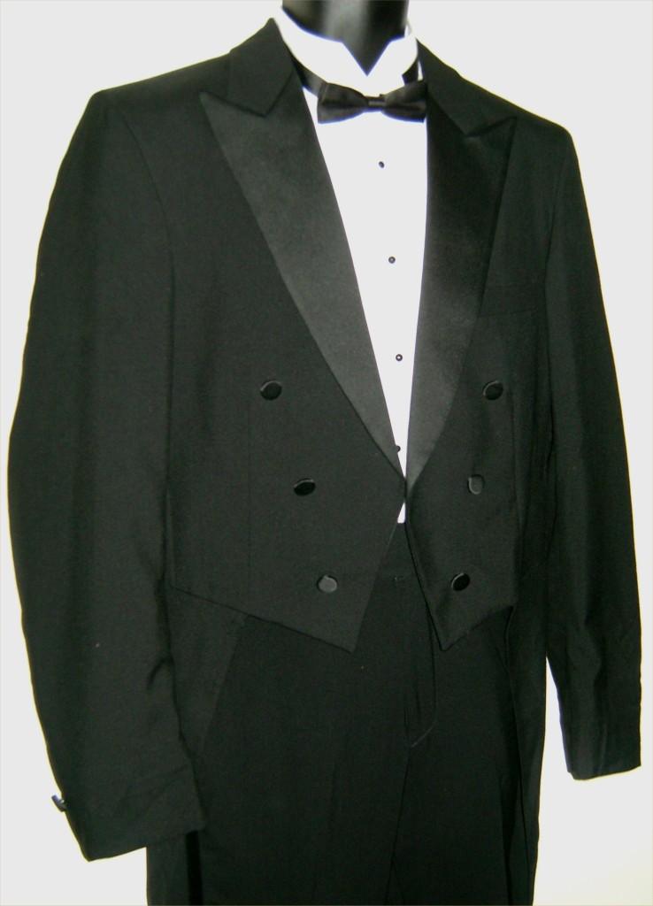 Mens Black Tuxedo Tuxedo Tails Jacket Tailcoat Wedding