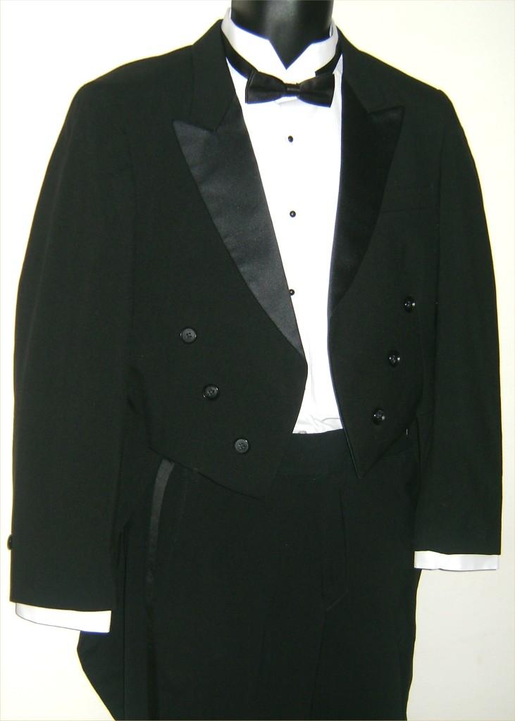 Men/'s Black Raffinati Tuxedo Tailcoat with Optional Pants Dickens Costume