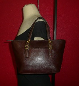 COACH Brown Leather Small Market Tote Purse Bag 9846