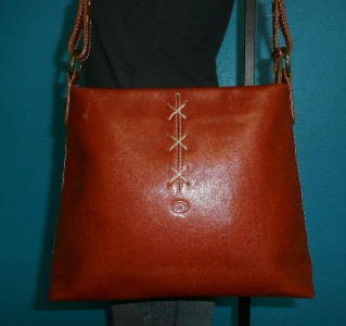DIONIGI Italian Brown Leather Shoulder Satchel Tote Purse Bag ITALY