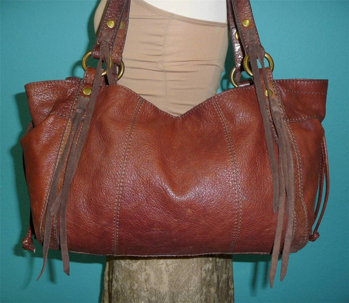 Anuschka Hand Painted Leather East West Zip Top Shoulder Bag W Wallet