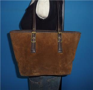 coach satchel bag outlet  coach brown suede leather