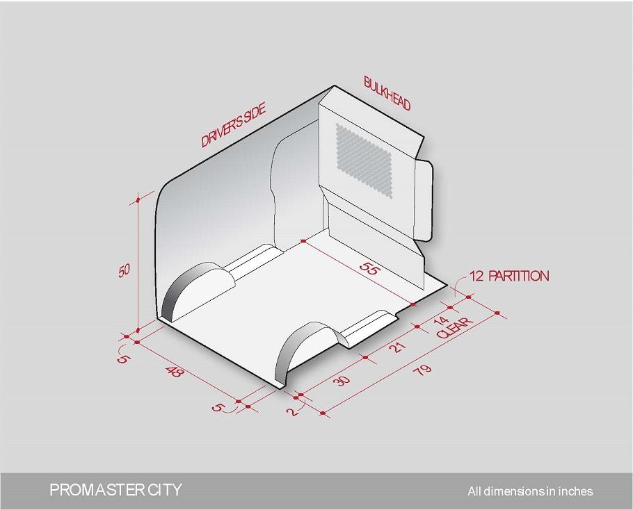 Ram Promaster City Interior Fit Drawing