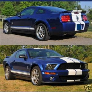 1& 34 Gap Dual FX Racing Stripes For 05 09 Mustangs New