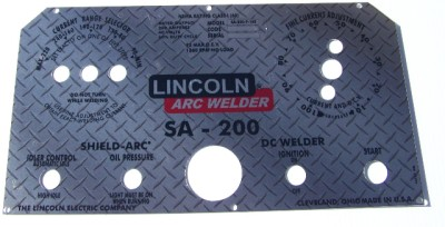 Lincoln Electric Arc Welder L-5171 Diamond Plate Aluminum Control ...