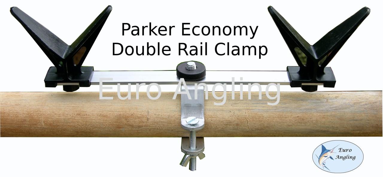 Parker rail railing clamp boat pier fishing rod rest ebay for Pier fishing rod holder