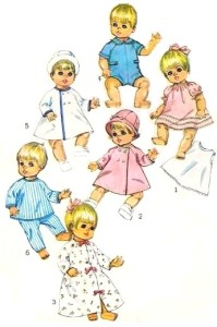 "8"" Alexander,Ginny Dolls Clothes Knitting Pattern # 55 