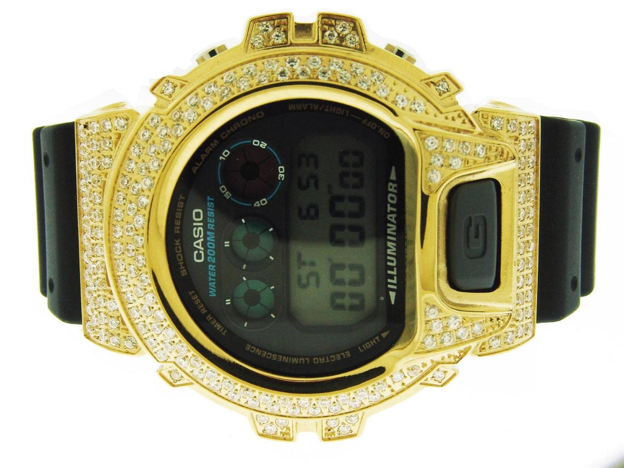 Casio g shock Men's Casio G Shock High quality CZ white crystal Watch Yellow case black face at Sears.com