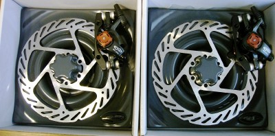 2012 New Avid BB7 Mtn Disc Brake Set 160mm F&R G2 Rotor 710845641008