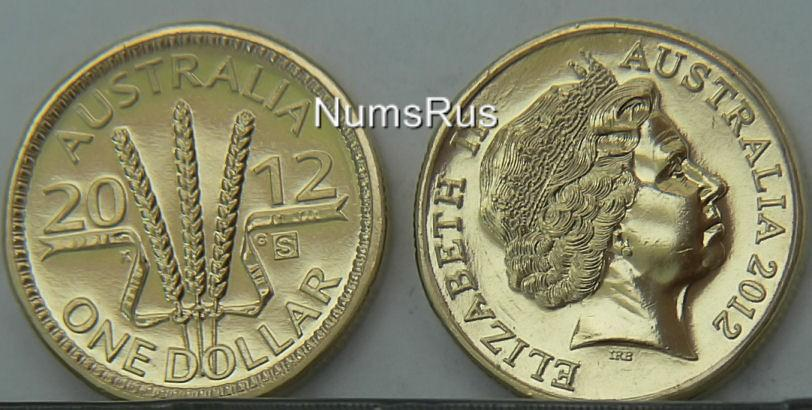 Australia-2012-Dollar-Wheat-Sheaf-M-mark-S-Brilliant-Unc-1-coin-MC112S-1404