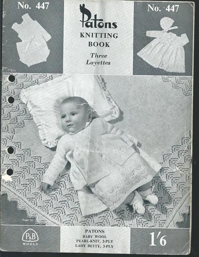Patons Knitting Book Vintage 447 Babies Layettes Knitting eBay