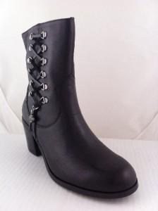 NEW WOMENS HARLEY DAVIDSON ALANIS ZIPPER BLACK BOOTS 8 Medium 84439