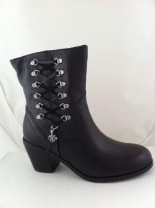New Womens Harley Davidson Alanis Zipper Black Boots 7 Medium 84439