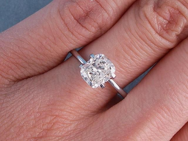 Forever Classic Cushion Cut Solitaire  Solitaire Rings