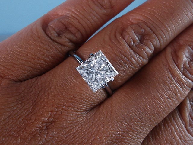 3 carat princess cut diamond ring  eBay