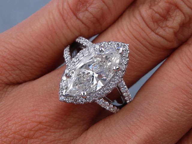3 20 CARAT CT TW MARQUISE CUT DIAMOND ENGAGEMENT RING G SI3
