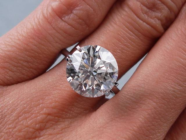 5 43 Carat Ct Round Cut Diamond Solitaire Engagement Ring