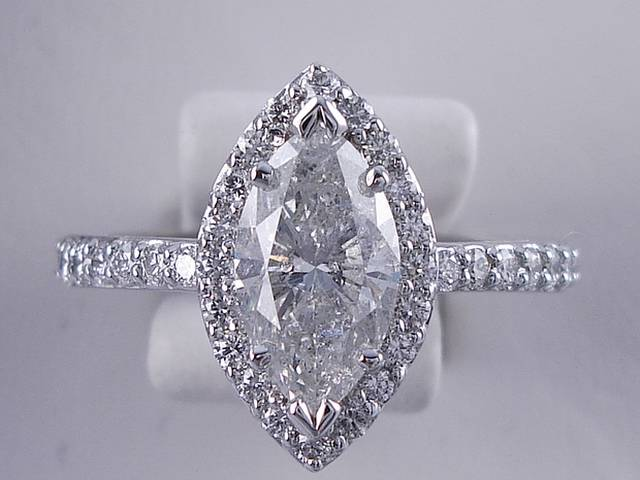 2 03 CARAT TW MARQUISE CUT DIAMOND ENGAGEMENT RING F SI2