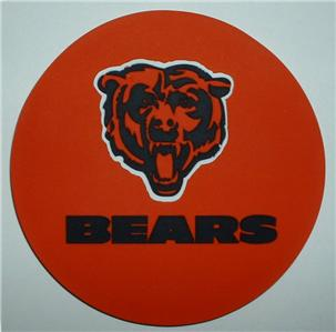Chicago Bears Coasters 4 Pack Rubber Drink Deluxe New | eBay