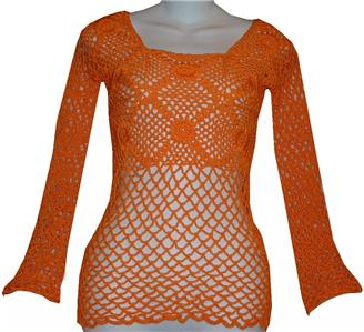 eBay Express: CROCHET HAND KNIT WOMEN'S TOP SHIRT S/M + JEWELRY SET -