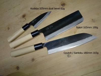 japanese namonme nakiri black hammer forged thick pro