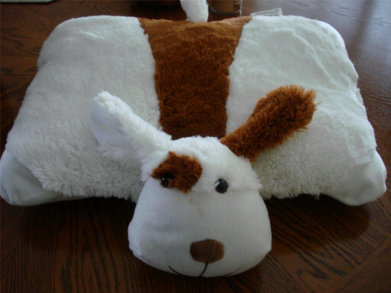 Stuffed Animal Dog Pillow : PUPPY DOG PILLOW CHUM PET STUFFED ANIMAL LARGE 18 PILLOW PAL eBay