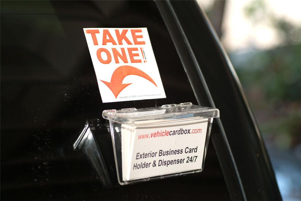 Mobile business card holder vehicle truck car outside ebay for Vehicle business card holder