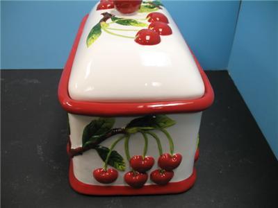 Http Ebay Com Itm 3d Red Cherry Bread Box Kitchen Decor Cherries Ceramic Bar Decor Fruit New 151080000854