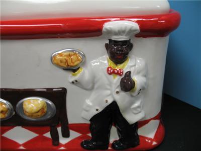 3d black american jemima bread box kitchen ceramic