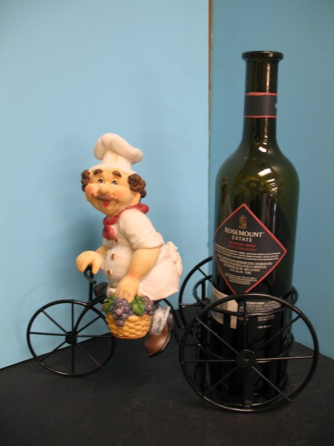 3D-Italian-FAT-chef-WINE-holder-BISTRO-DECOR-Home-Bar-Bicycle-Kitchen-set-Metal