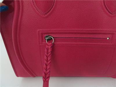 neon pink celine bag - Auth Celine Hot Pink PEBBLED Crisped Phantom Luggage Tote | eBay