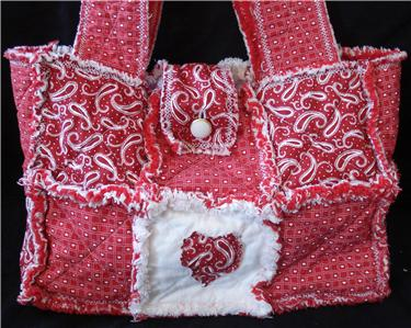 Rag Quilted Handbag Pattern : SEW EZ RAG QUILT PURSE, TOTE, BAG INSTRUCTIONS PATTERNS eBay