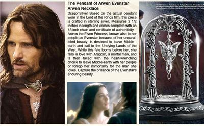 New the pendant of arwen evenstar arwen necklace lotr 3999 choice to leave middle earth with her people or forego her immortality for the man she loves capture the brillance of the evenstars enduring beauty aloadofball Images