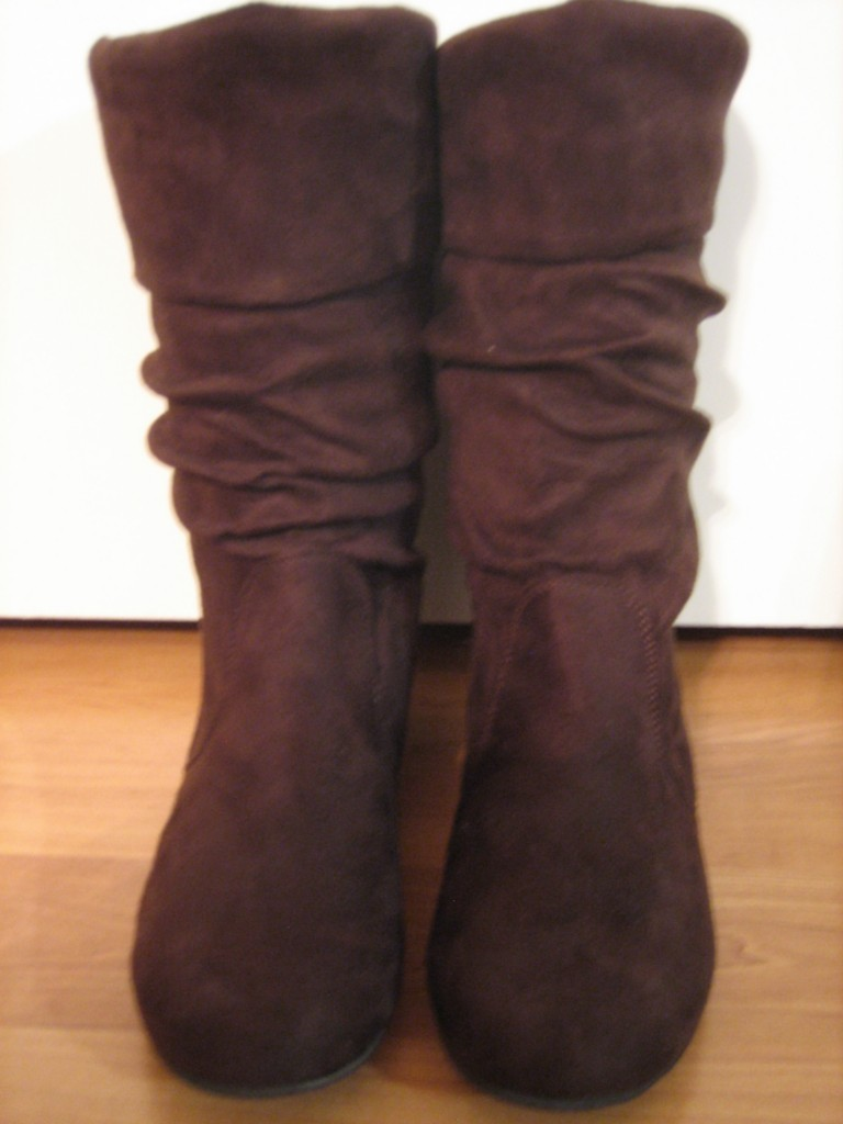 faux suede slouch mid calf fashion dress flat boots all