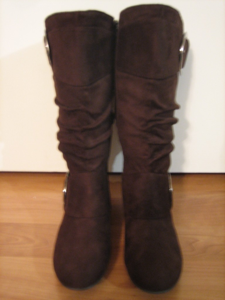 suede slouch buckle dress flat knee high boots all sz ebay