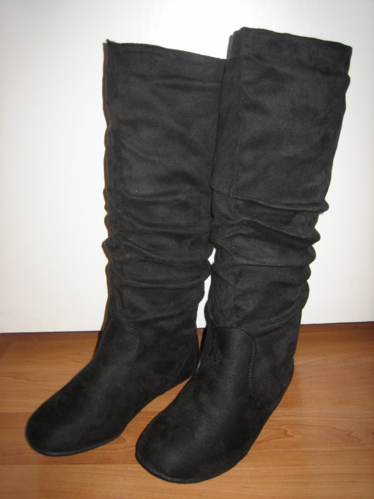 suede slouch fashion dress flat knee high boots all sz ebay
