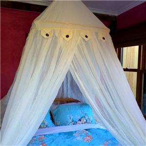 Bali cotton square frame mosquito net bed canopy fits all for Rectangle bed canopy