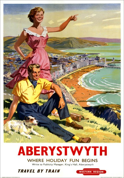 Aberystwyth-Where-Holiday-Fun-Begins-BR-WR-Vintage-Travel-Poster-by-Harry-Riley