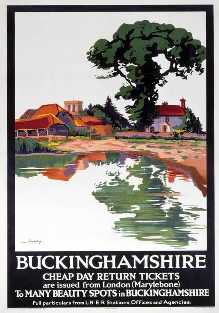Buckinghamshire-Aylesbury-LNER-Vintage-Travel-Poster-by-Schabelsky-1923-1947