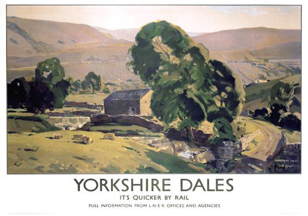 Vintage british railways yorkshire dales poster