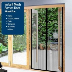Patio door mesh screen