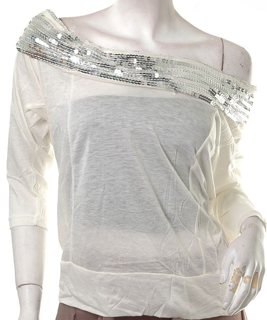 Antidote-Clothing sheer see through glitter sequin disco top :  fashion 80s top disco top rave top