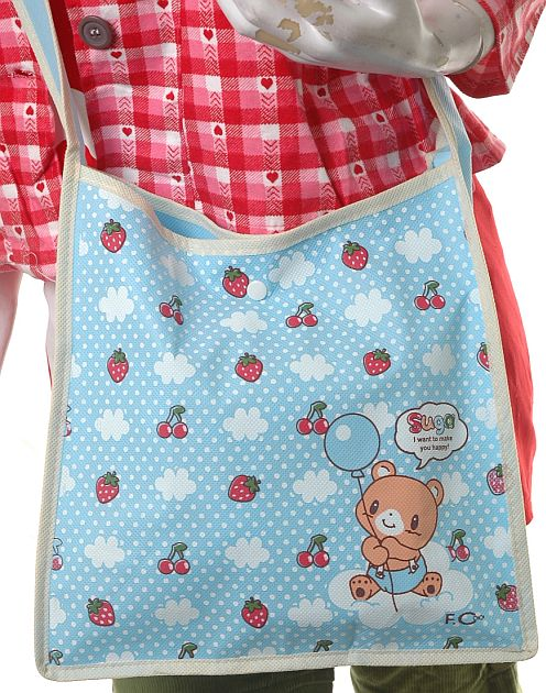 Antidote-Clothing KAWAII FRUITS JAPAN CLOUDS MESSENGER BEAR BERRIES BAG :  cute bag school bag fashion book bag