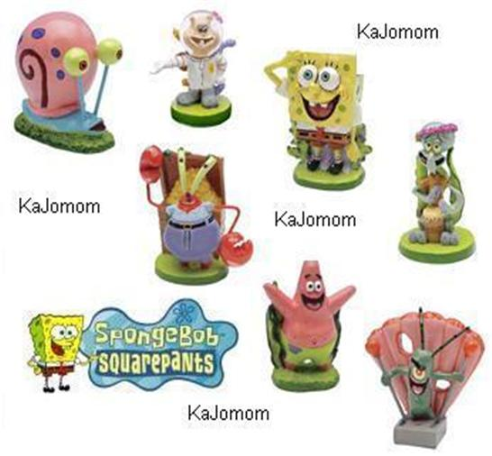 SPONGEBOB AQUARIUM DECORATIONS ORNAMENTS ~YOUR CHOICE ...