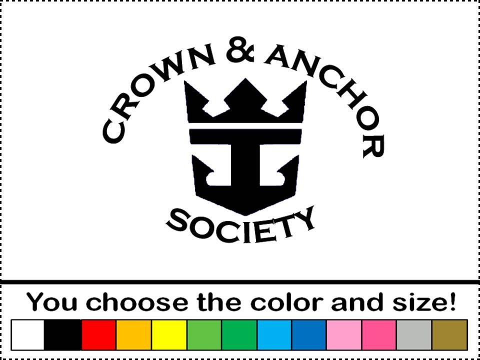 Anchor society royal caribbean sticker vinyl decal car wall art ebay