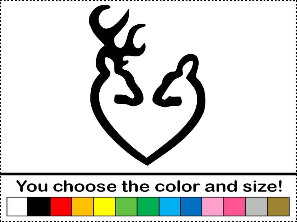 Deer Heart Decal